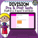 Distance Learning Digital Pre and Post Division Tests