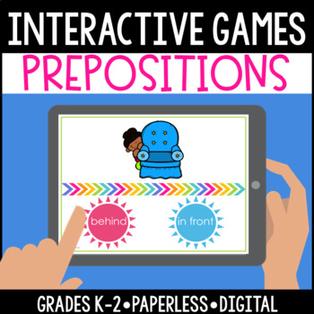 Interactive, Digital and Paperless Preposition Game FREEBIE