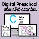 Digital Preschool Alphabet Activities for Google Classroom