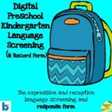 Digital Preschool Kindergarten Language Screening