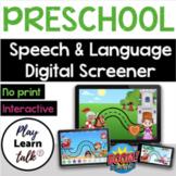 Digital Preschool Speech-Language Screener - Boom Cards