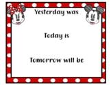 Digital Print * Classroom Theme: Disney Mickey Minnie - Week, Weather, Season