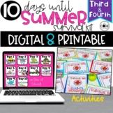 Digital + Print End of Year Countdown Activities   Last 10 Days of School 3-4