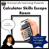 Digital/Print Escape Room:  Calculator Skills
