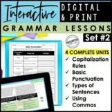 Digital & Print Grammar Lessons | Capitalization & Punctuation Practice