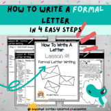 Digital & Print | How To Write A Formal Letter With Poster