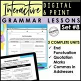 Digital & Print Interactive Grammar | End Punctuation, Quo