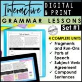 Digital & Print Interactive Grammar | Sentence Structure, Parts of Speech