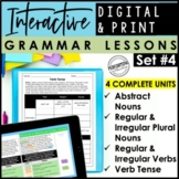 Digital & Print Interactive Grammar | Verb Tense, Abstract Nouns, Irregular Noun