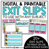 Digital Exit Slips for Any Subject   Google Slides Distance Learning   Printable