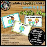 Digital & Printable Kindergarten Leveled Books - Earth Day