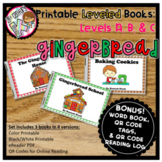Digital & Printable Kindergarten Leveled Books - Gingerbre
