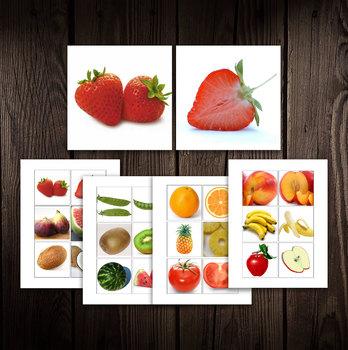 Digital Printable Montessori Matching - Fruits & Vegetables