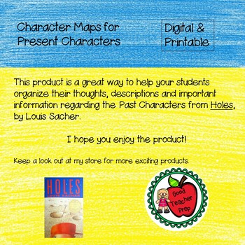 Digital & Printable Present Character Maps for Holes, by Louis Sachar