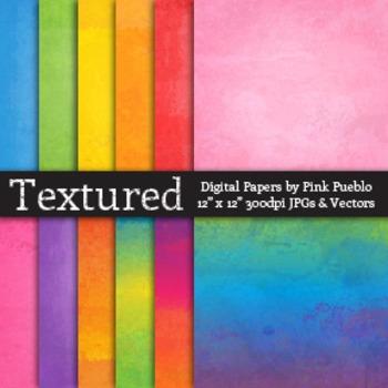 Digital Printable Scrapbook Papers or Backgrounds - Waterc