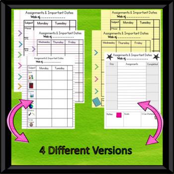 Digital & Printable Student Planner
