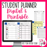 Digital & Printable Student Planner