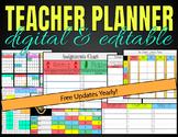 Digital & Printable Teacher Planner (2019-2020)   Free Yearly Updates!
