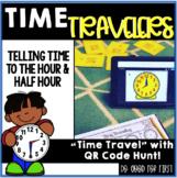 Digital & Printable Time Stations (hour & half hour) - QR
