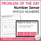 Problem of the Day: Number Sense {Digital and Paper}