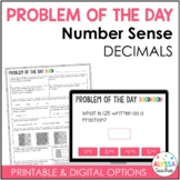 Problem of the Day: Number Sense (Decimals) {Digital and Paper}