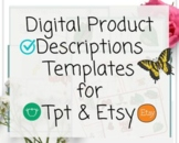 TpT New Seller Product Description Templates for TpT and E