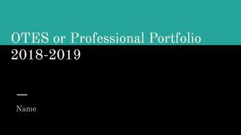 Digital Professional Portfolio and OTES Digital Binder