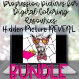 Digital Progression REVEAL Clip Art BUNDLE- RETRO Themed