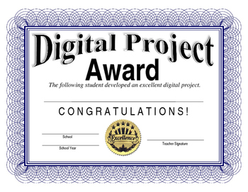 Computers - Digital Project Award