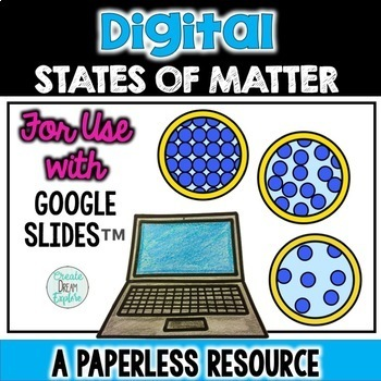 Digital Properties of Matter Workbook for use with Google Slides