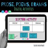 Digital Prose, Poems, and Dramas Activities RL.4.5 {Google