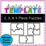 Digital Puzzle Pieces Template -- Distance Learning