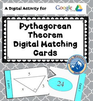Digital Pythagorean Theorem Matching Cards