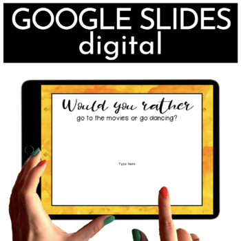 Google Classroom™ Activities Task Cards with Conversation Starters