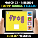 Digital R Blends Word Work for Google and Seesaw 2 - Dista