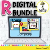 Digital R Articulation Boom Card Bundle for Speech Therapy