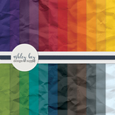 Digital Rainbow Craft Papers- Commercial Use Papers for Sellers