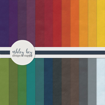Digital Rainbow Leather Patterned Papers- Commercial Use P