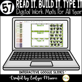 Digital Read It, Build It, Type It Mats for ANY WORD   Distance Learning