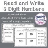 Digital Read and Write 3 Digit Numbers