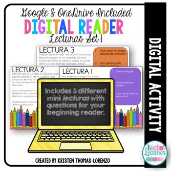 Digital Reader Set 1 - Sara y Miguel {DIGITAL/PAPERLESS}