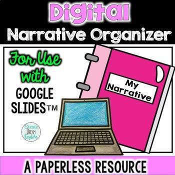 Digital Narrative Writing Organizer for Use with Google Slides