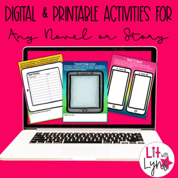 Digital Reading Activities for ANY Novel or Short Story