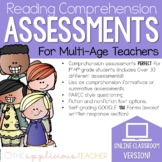 Digital Reading Comprehension Assessments: Multi-Grade Bundle