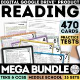 Digital Reading Comprehension Mega Bundle   Distance Learn