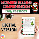 Digital Reading Comprehension Passages & Questions for December