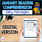 Digital Reading Comprehension Passages & Questions for January