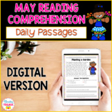 Digital Reading Comprehension Passages & Questions for May
