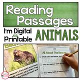 Digital Reading Comprehension Passages on Animals   Close
