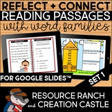 Digital Reading Comprehension Passages with Word Families Set 1